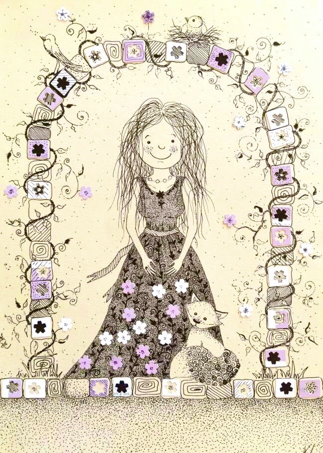 MiniMűhelyes alkotó korábbi rajz munkája - lány