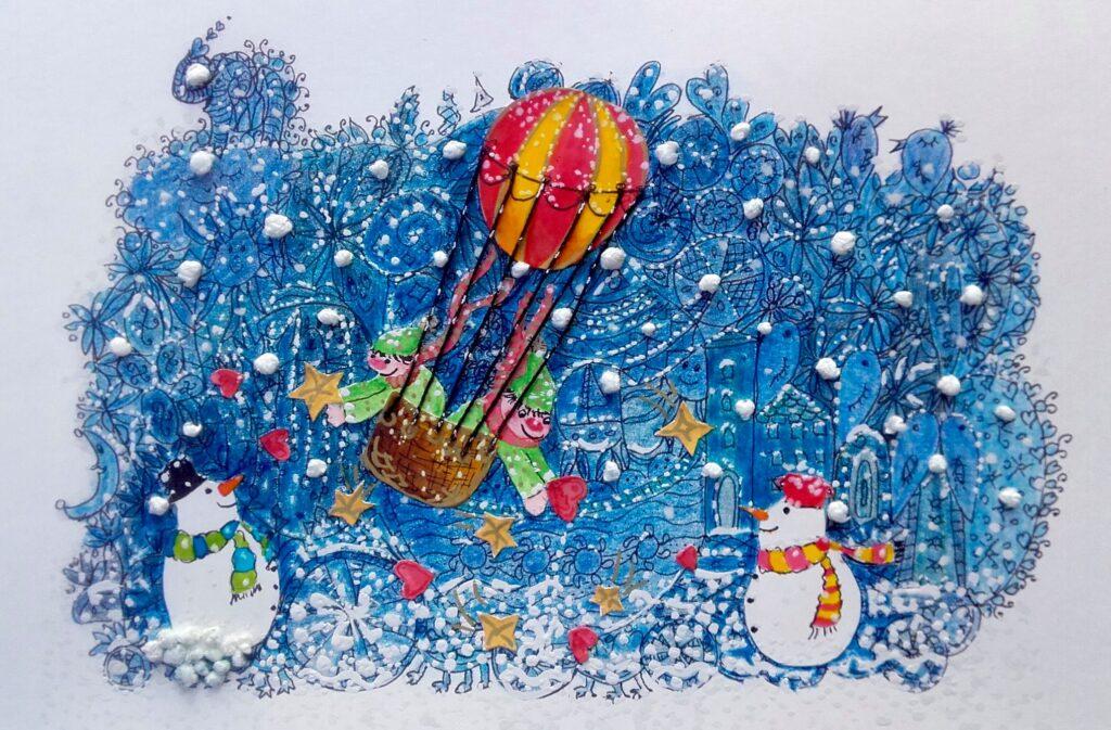 MiniMűhelyes alkotó korábbi rajz munkája - tél